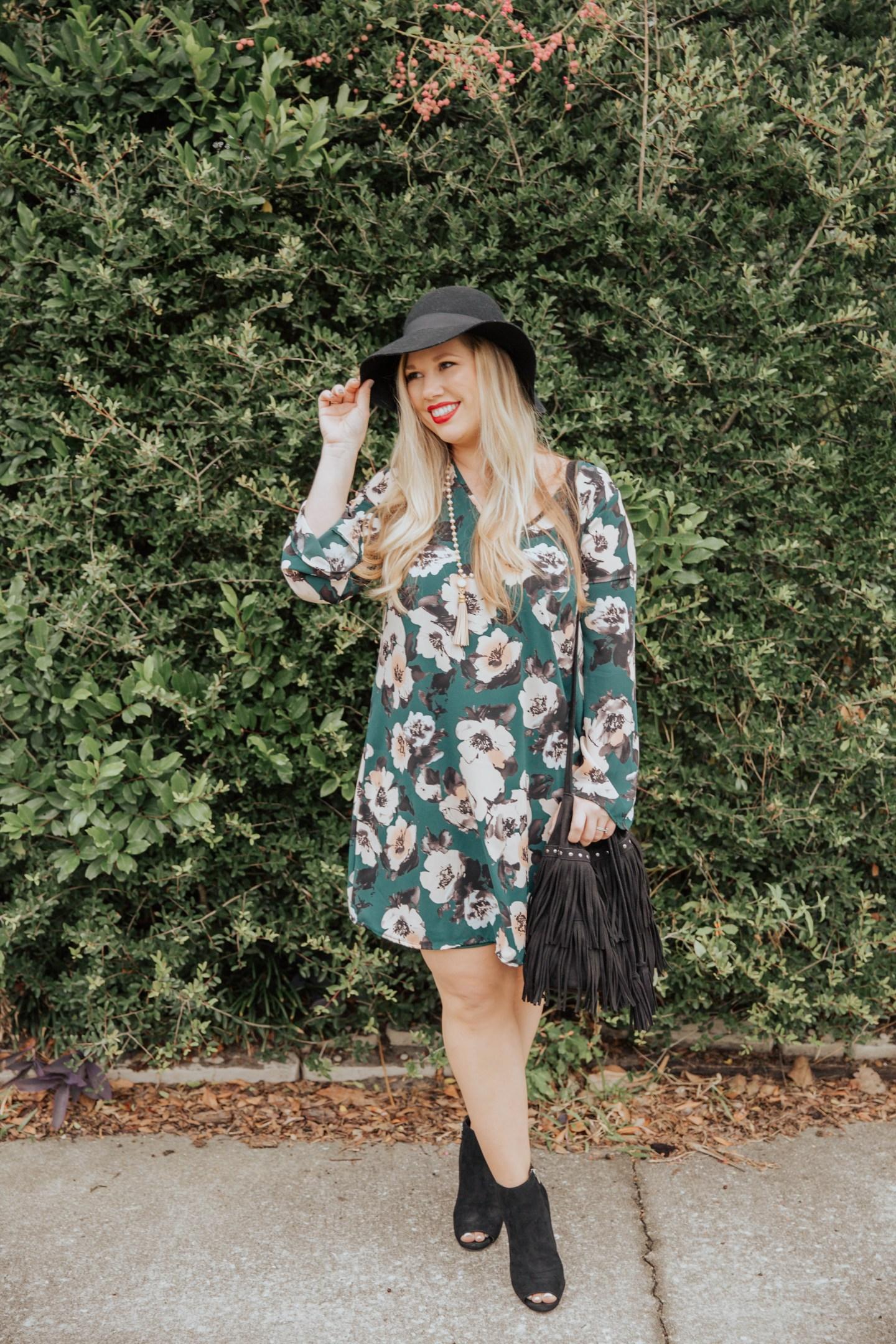 Boho Floral Dress, Black Friday + $75 Giveaway