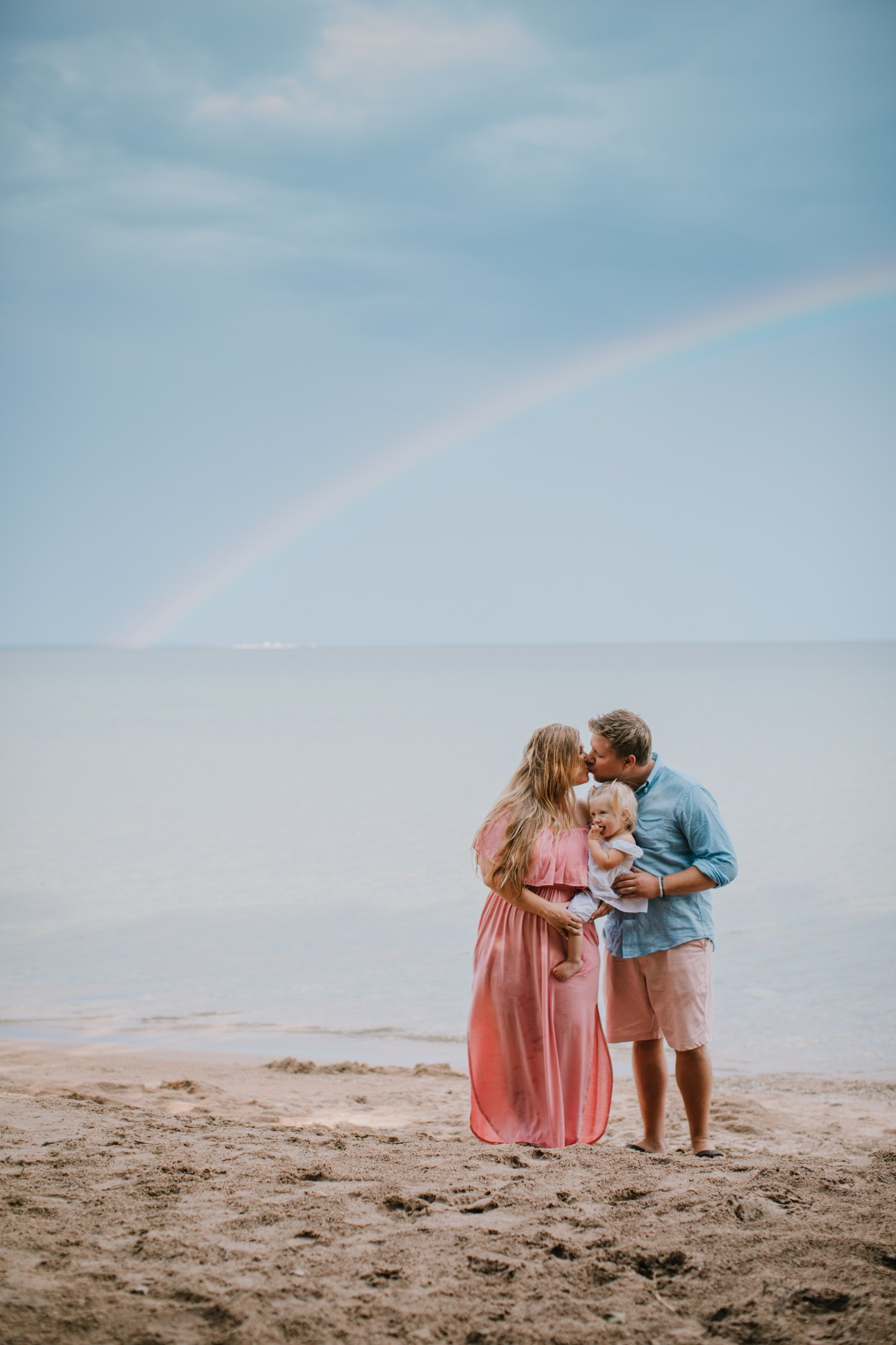 Magical Family Photos Under the Rainbow in Door County