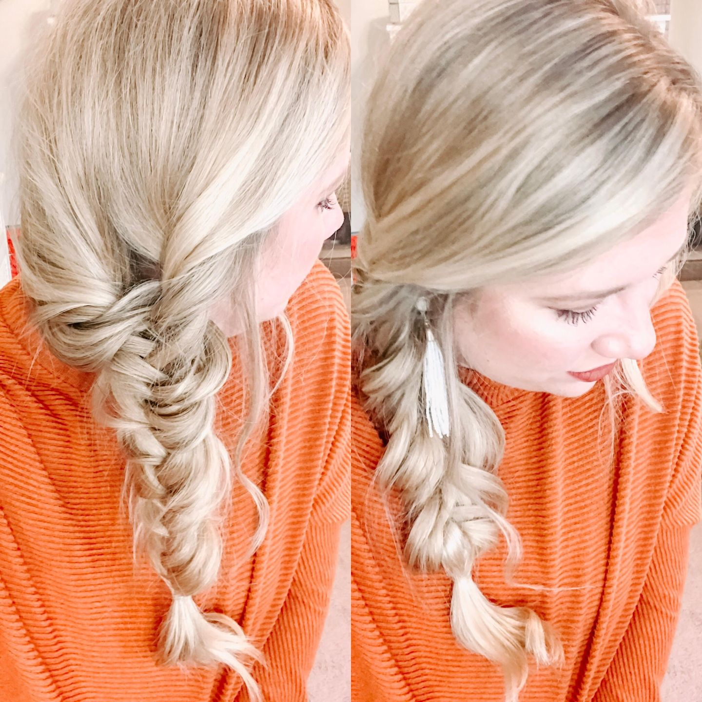 Easy Chunky Fishtail Braid Hair Tutorial