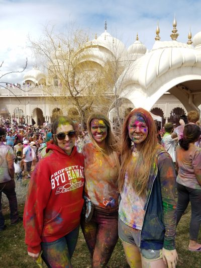 Holi Festival of Colors after group pic