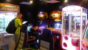 Arcade aboard the cruise ship