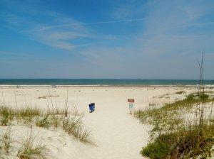 Gorgeous white sand at St. Augustine Florida
