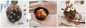 Strawberry and cheesecake stuffed truffle