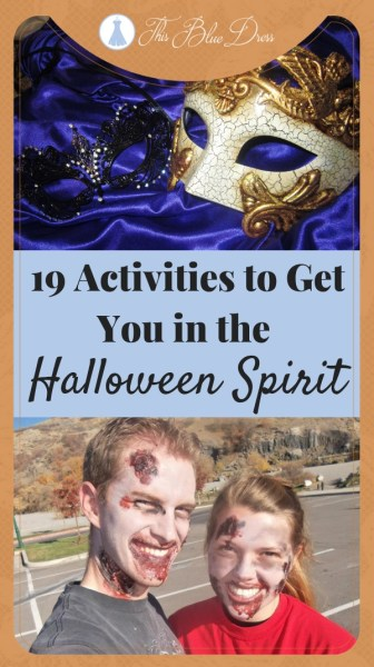 19 Activities to get you in the Halloween Spirit #halloween #familyfun #thisbluedress