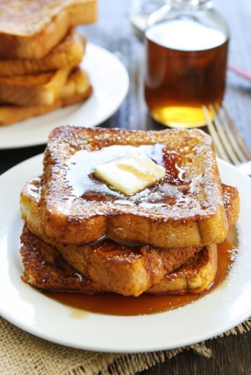 Pumpkin French Toast from Two Peas & Their Pod