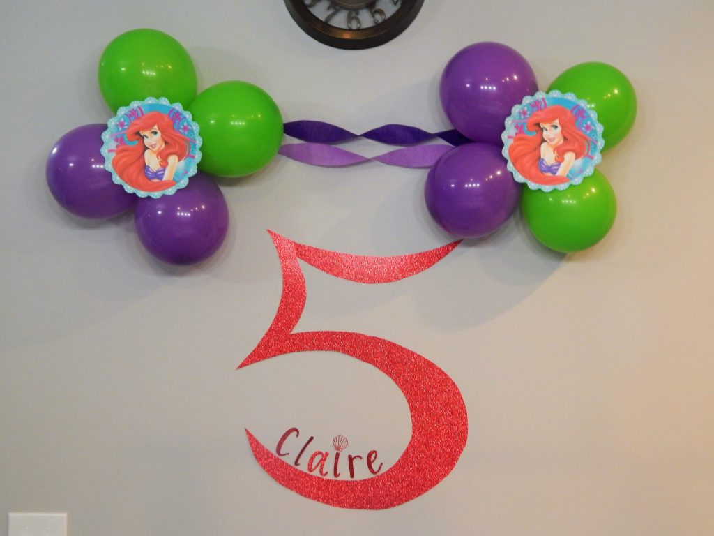 Balloon decoration for Little Mermaid party