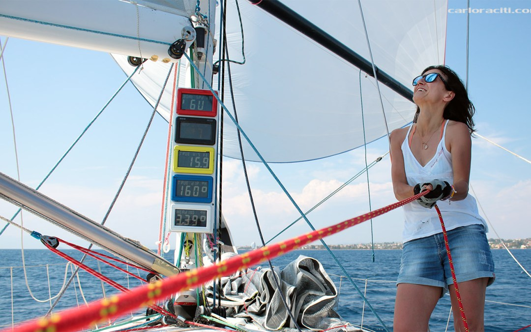 Crewing on our first offshore sailing race – in the rain