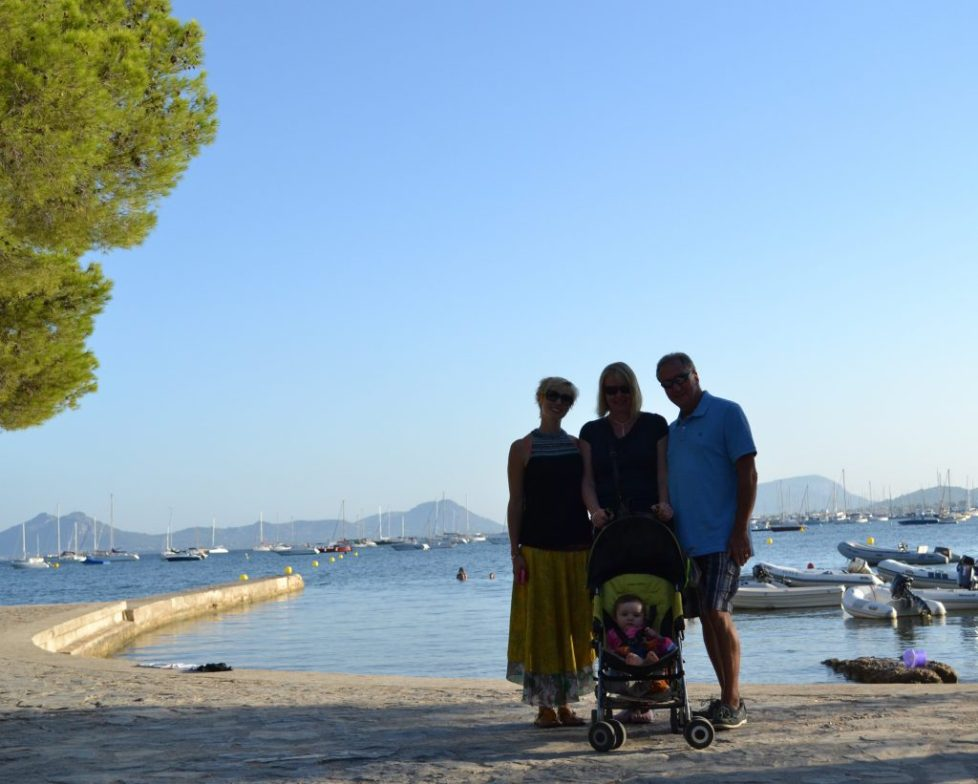 Puerto Pollensa Mallorca Spain - multi generational travel mallorca - family holiday with grandparents