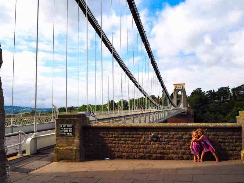 Clifton Suspension Bridge kids