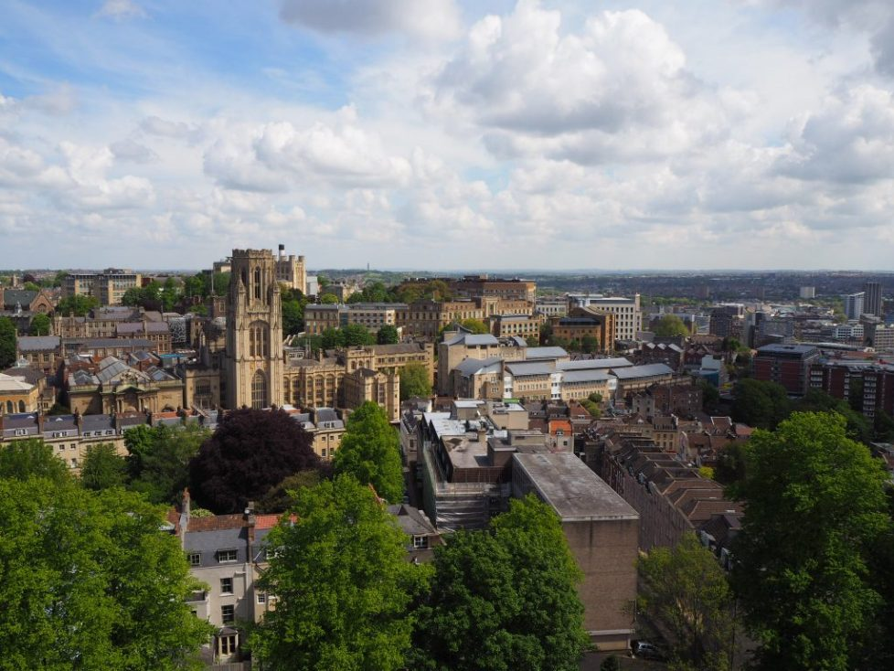 View from top of Cabot Tower, Bristol: free activities in Bristol to do with kids