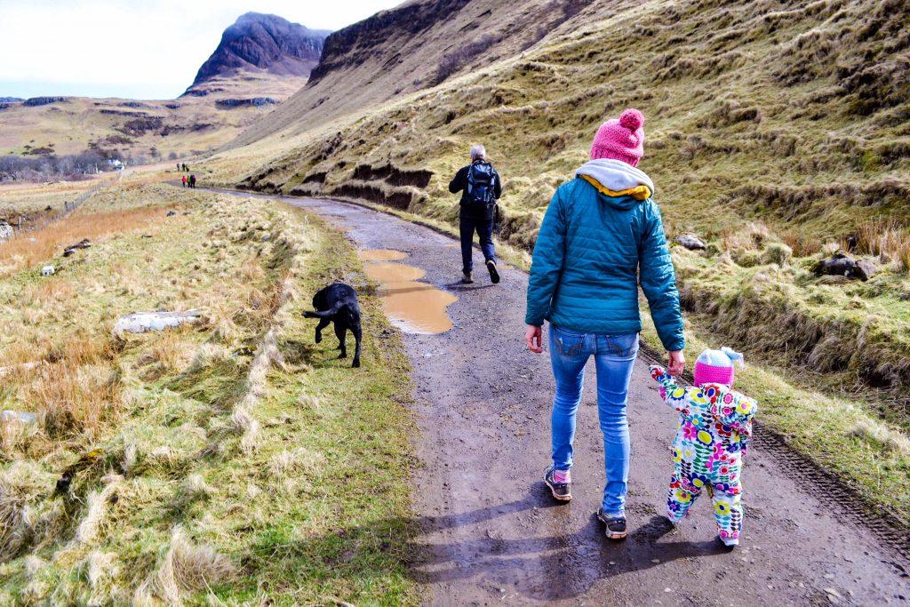 Talisker Bay walking terrain with a toddler