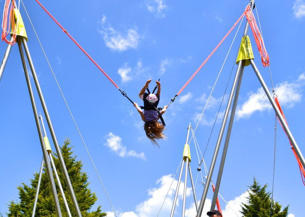 bungee trampoline la croix du vieux pont campsite france