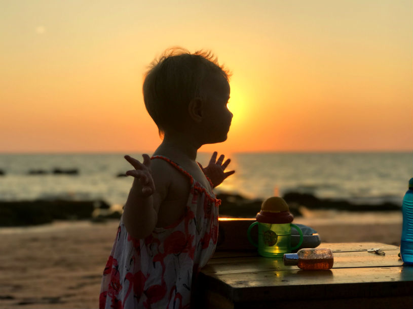 Sunset Koh Lanta Thailand - Tips for travelling in Thailand with a baby and a toddler