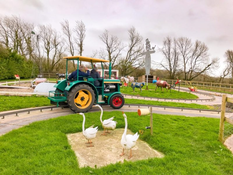 Woodlands family theme park Tractor ride near kingswear