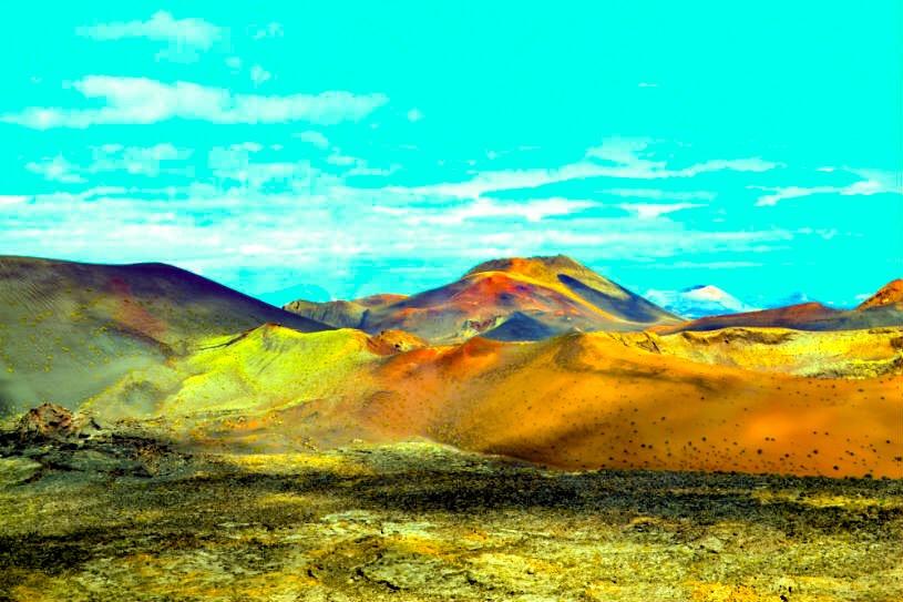 Lanzarote Timanfaya mountains of fire - volcano