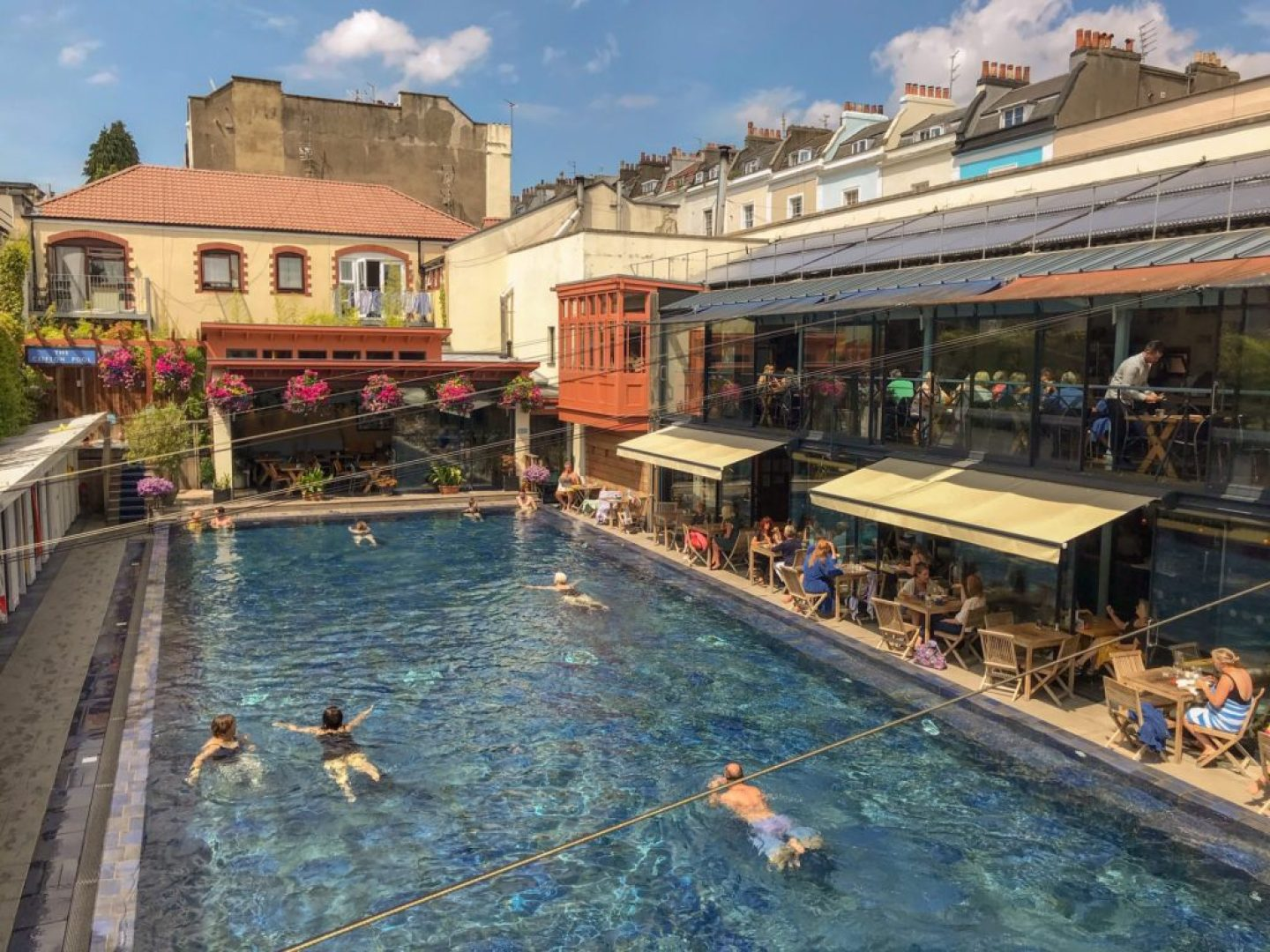 The lido Bristol, outdoor swimming pool