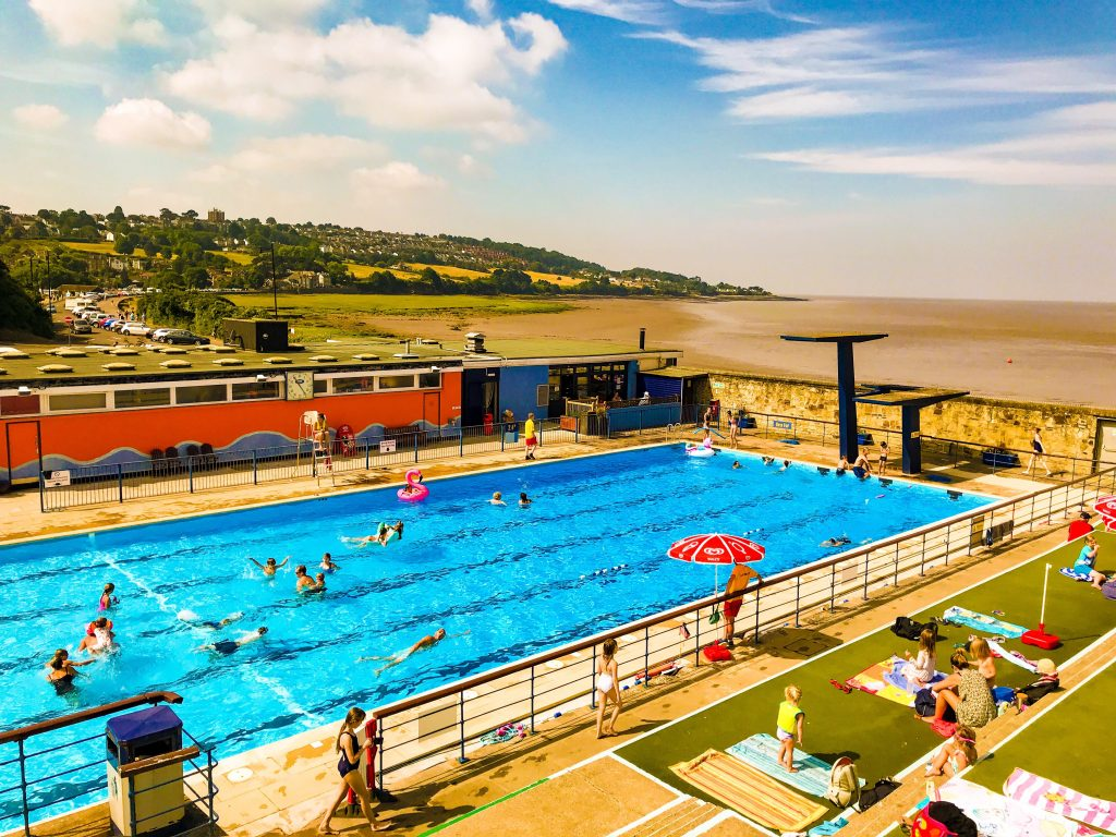 Portishead Lido near Bristol - how to stay cool in the heat in Bristol