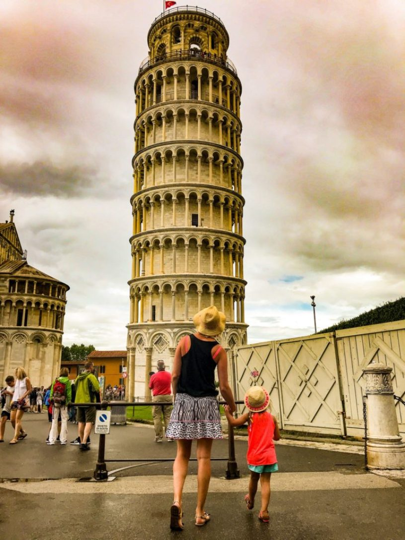 Leaning tower of Pisa, family travel