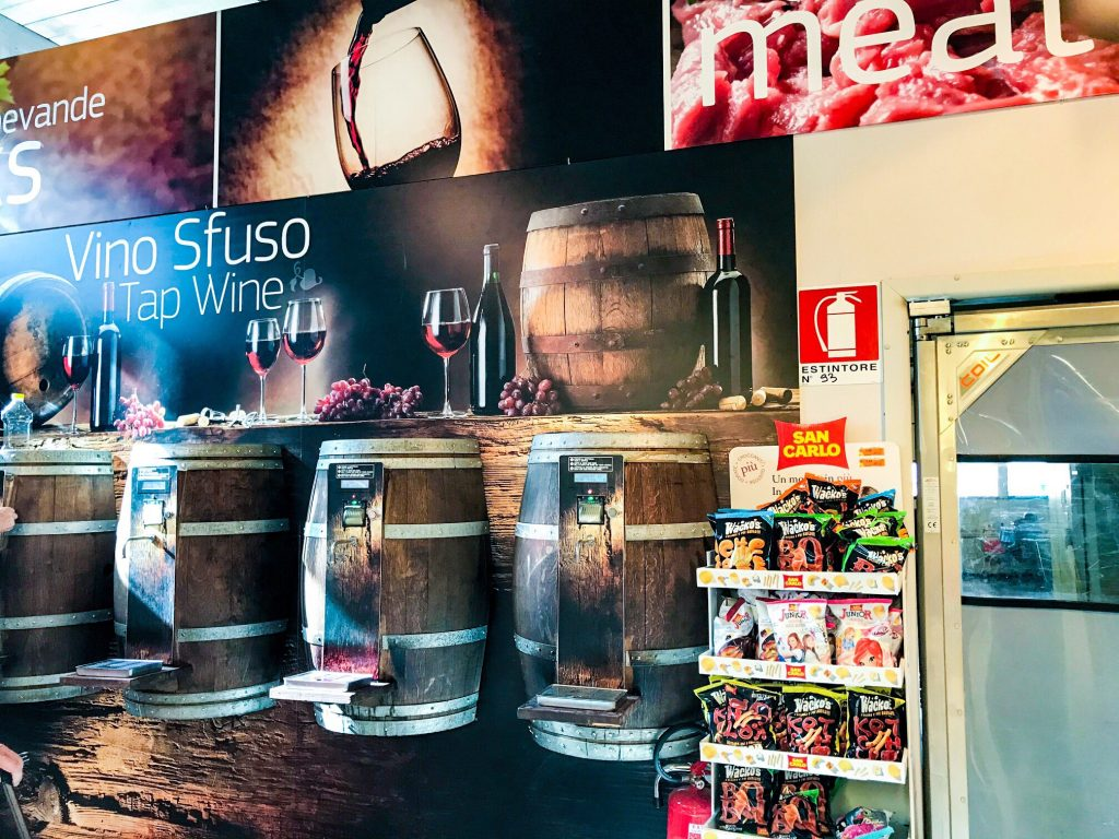 Wine filling station - Best campsites in tuscany -Park Albatros, San Vincenzo Tuscany, Italy