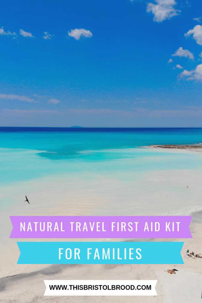natural travel first aid kit for families