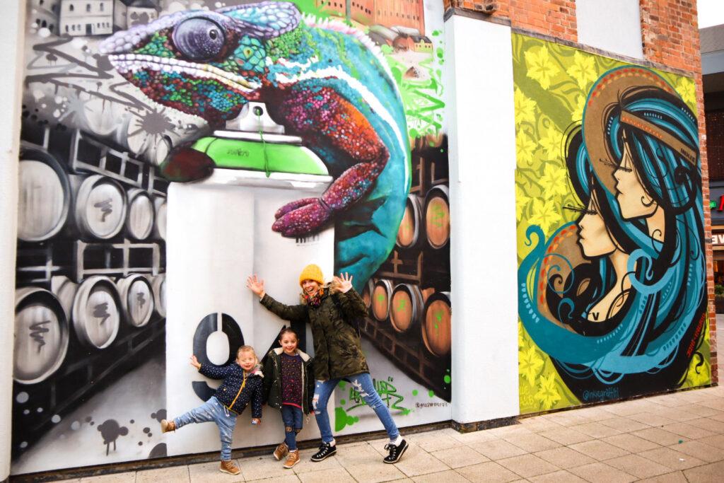 street art Cheltenham with kids