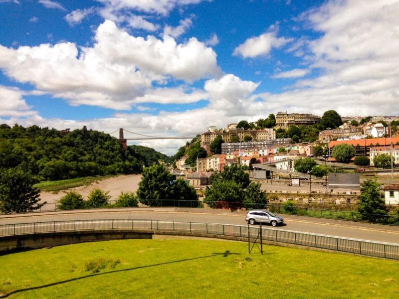 Clifton Suspension Bridge Bristol from Cumberland Basin