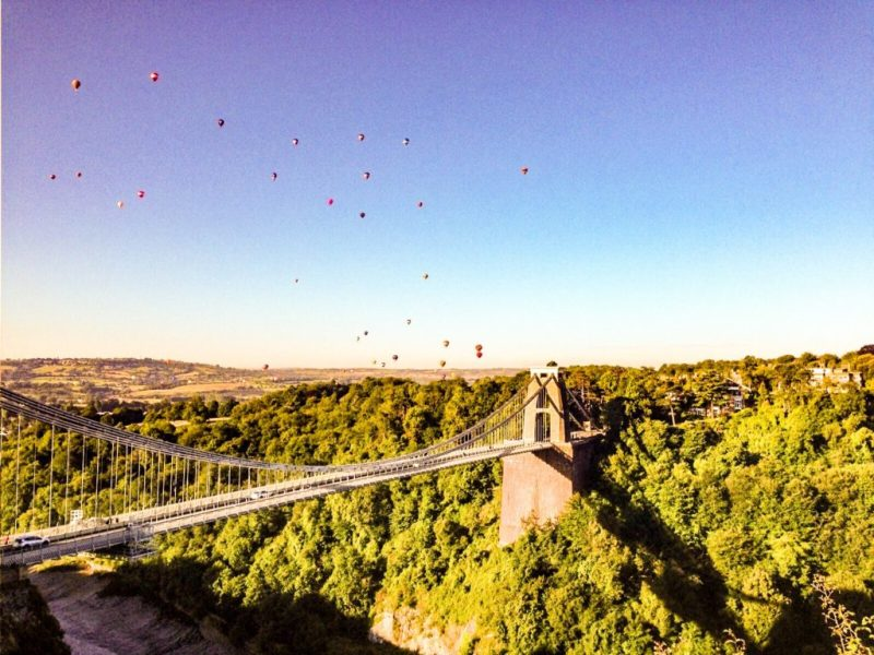 Bristol balloon fiesta, Clifton Suspension Bridge