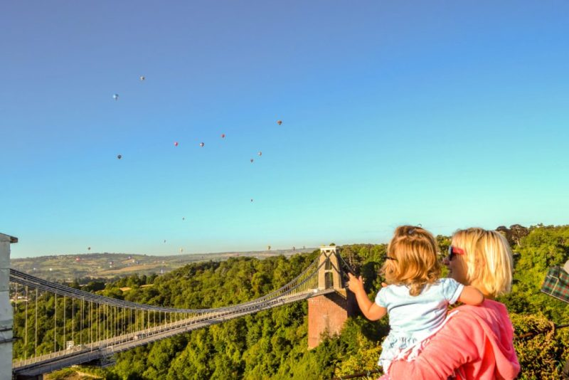 Clifton suspension bridge balloons