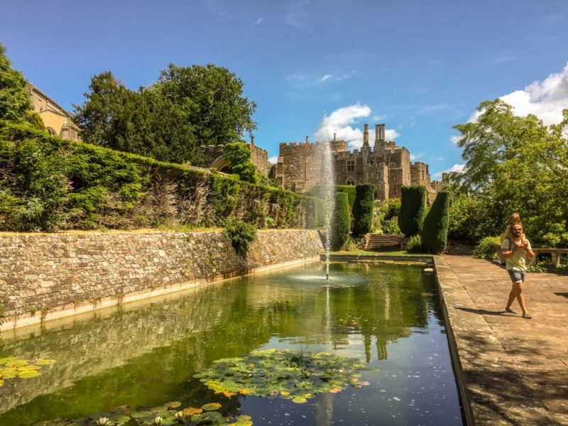 Berkeley Castle lily pond, South Gloucestershire