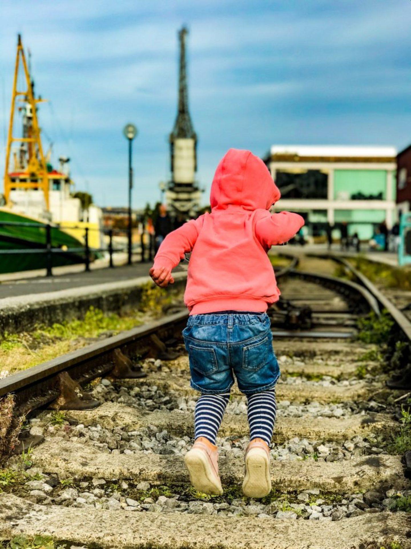 Walking around Bristol Harbourside with kids