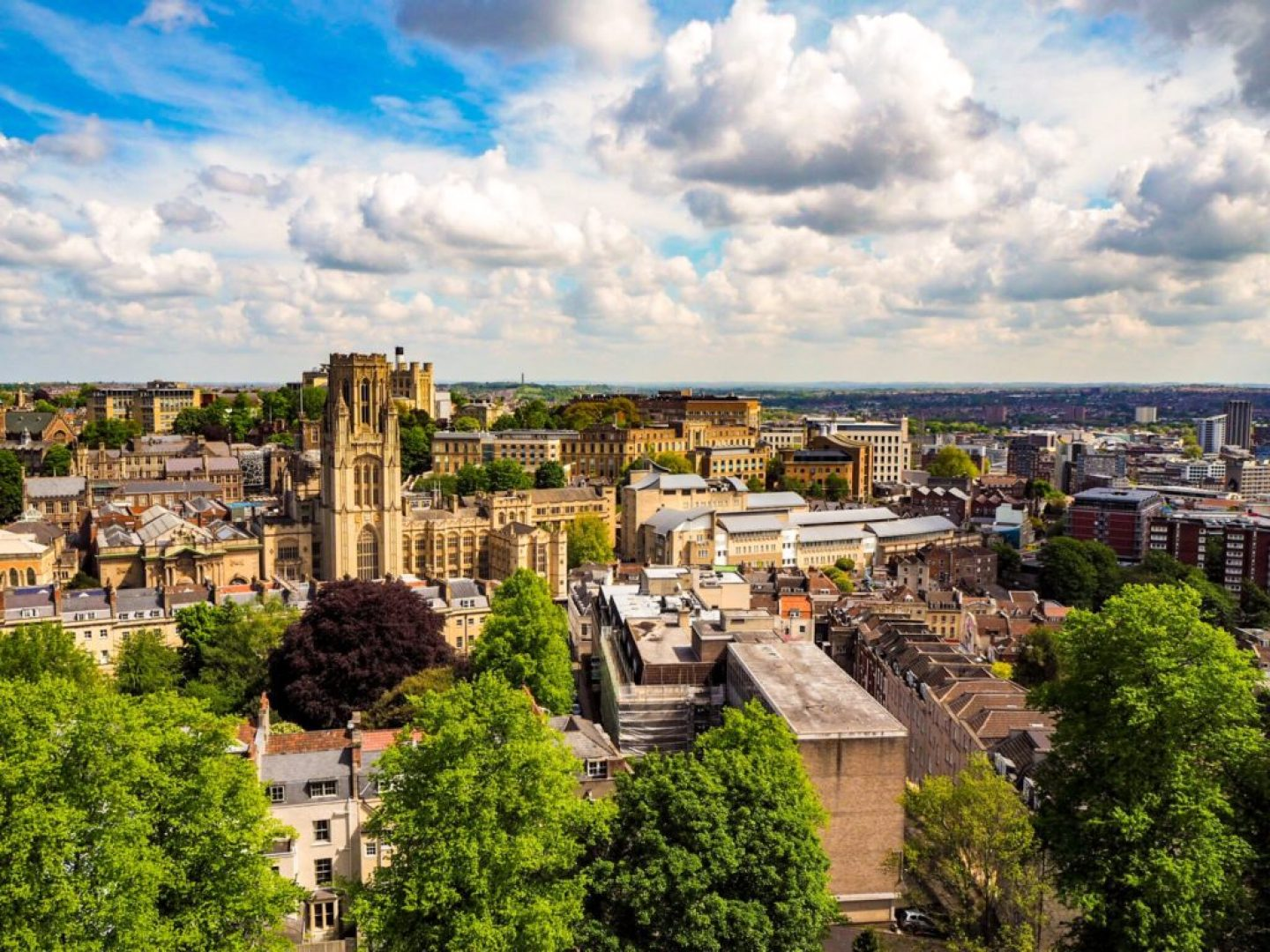 View from the top of Cabot Tower, Bristol