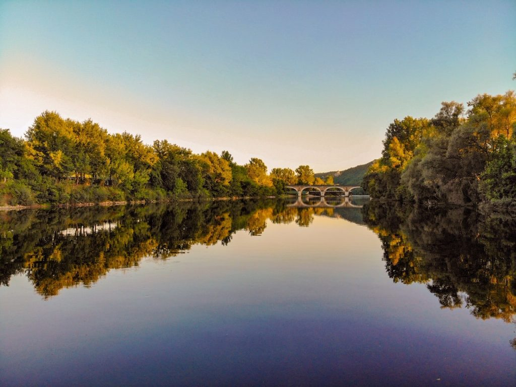 Campsites on the Dordogne River, beynac France