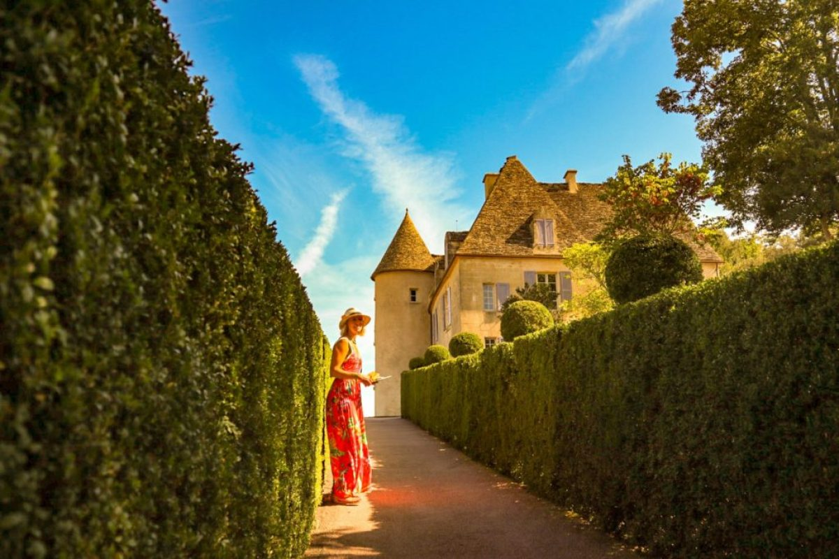 Jardins de Marqueyssac, campsites on the dordogne river france