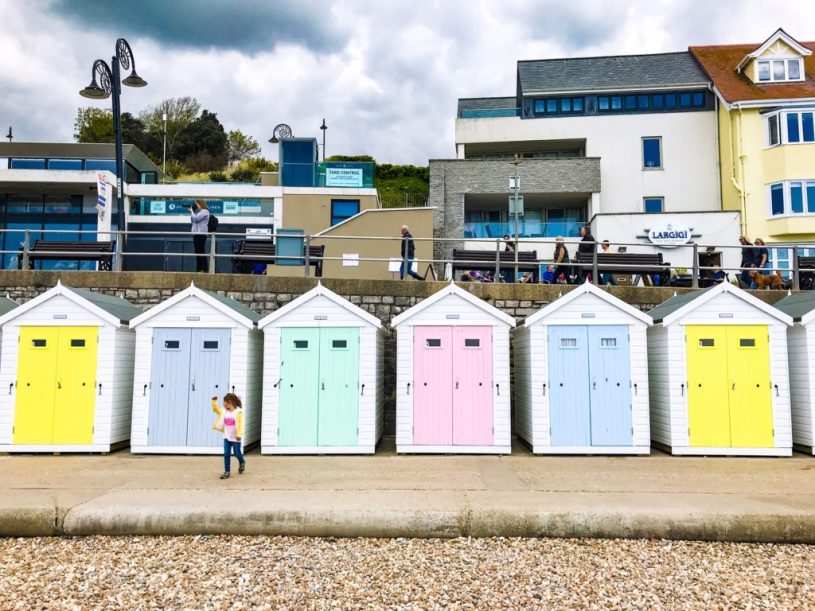 Lyme regis beach seaside huts