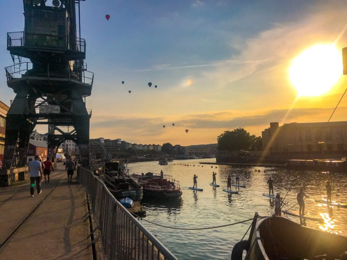 M Shed sunset balloons paddleboarders