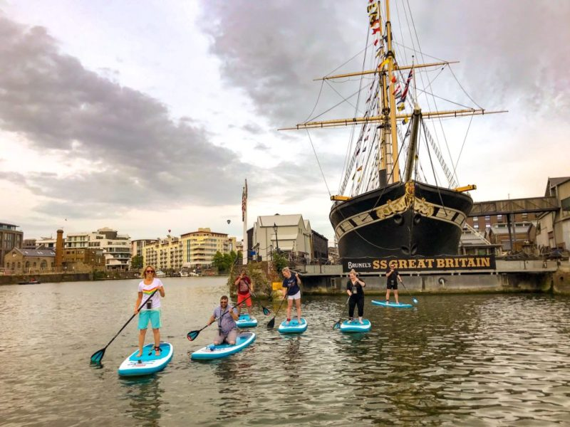 Stand up paddleboarding near Brunel's SS Great Britain