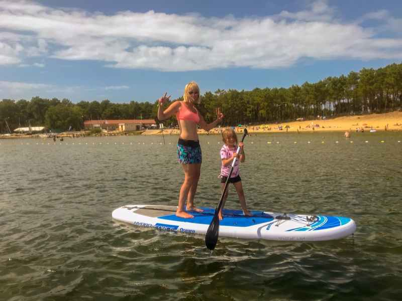Lac d'Hourtin, paddleboarding, south west france