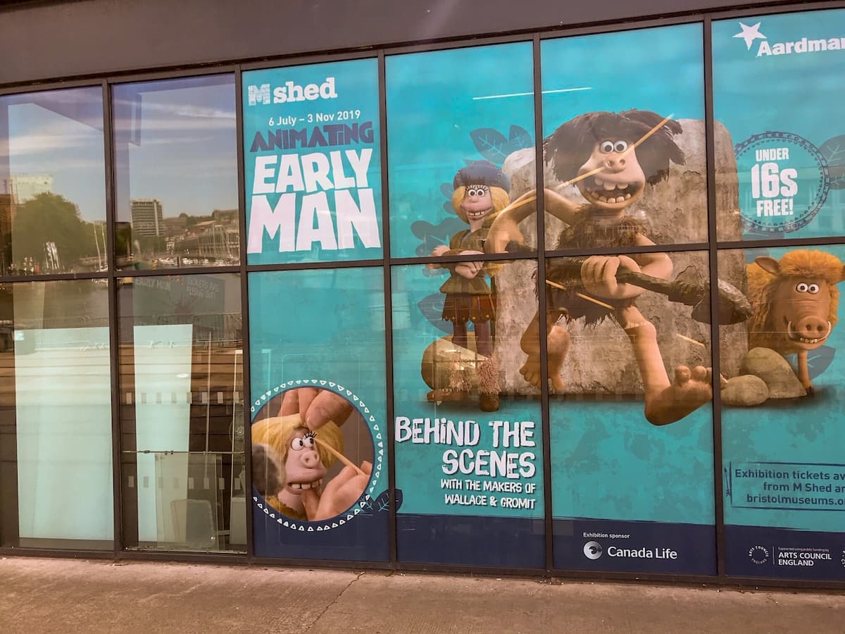 Early man at M Shed - Things to do in Bristol with kids
