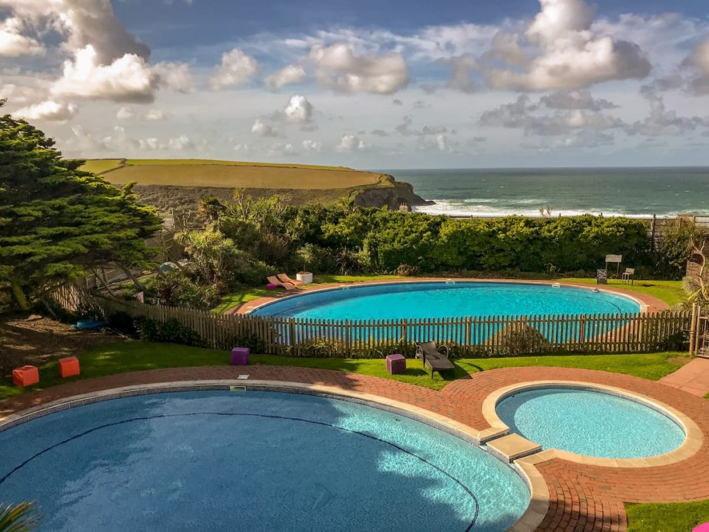 swimming pools at Bedruthan