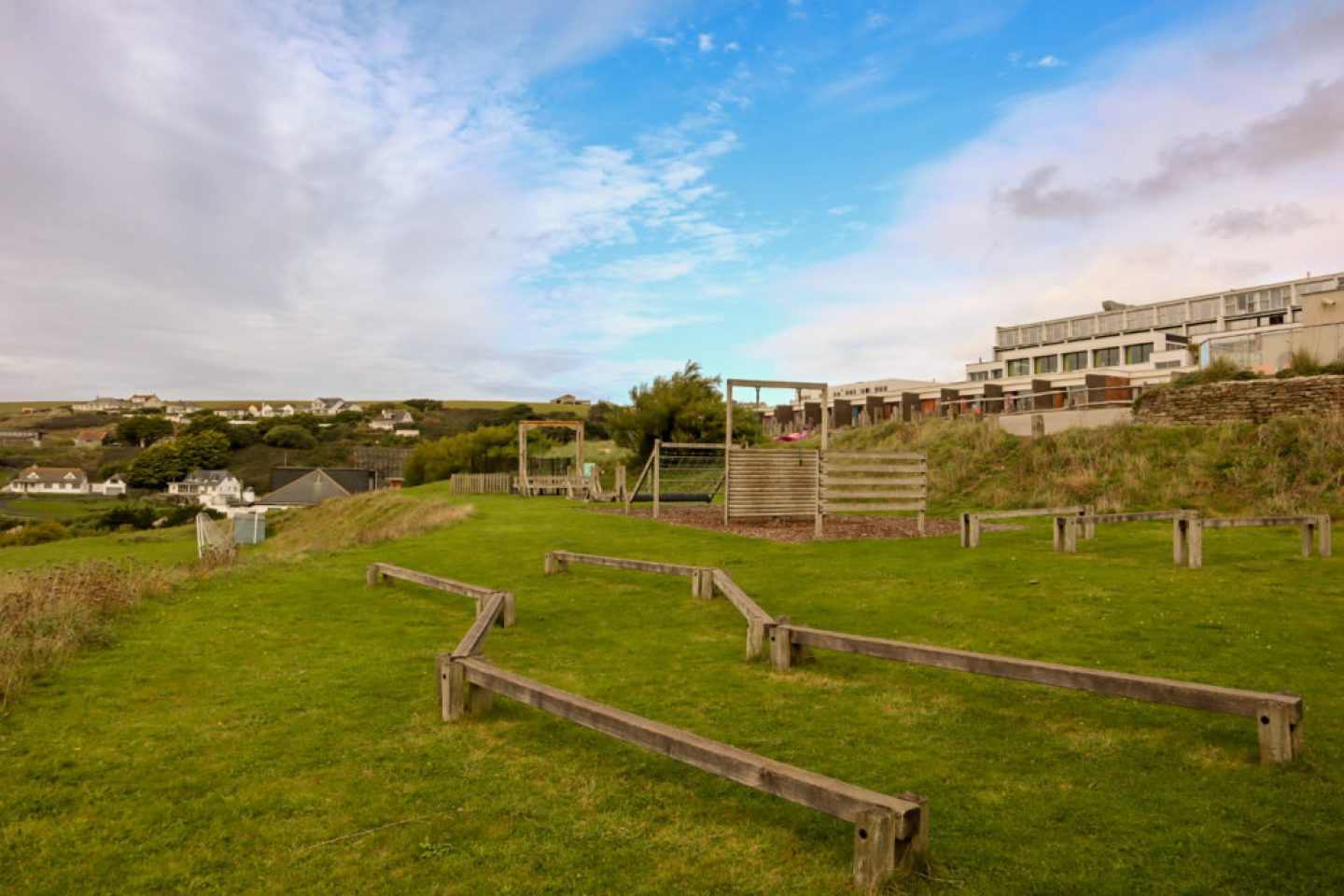 obstacle course Bedruthan hotel and spa
