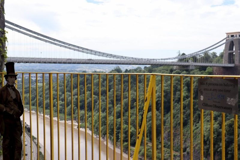 Clifton Observatory views of Clifton Suspension Bridge Bristol