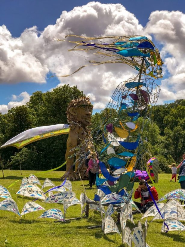Goram Festival, giant sculptures, Blaise Castle Estate, Bristol