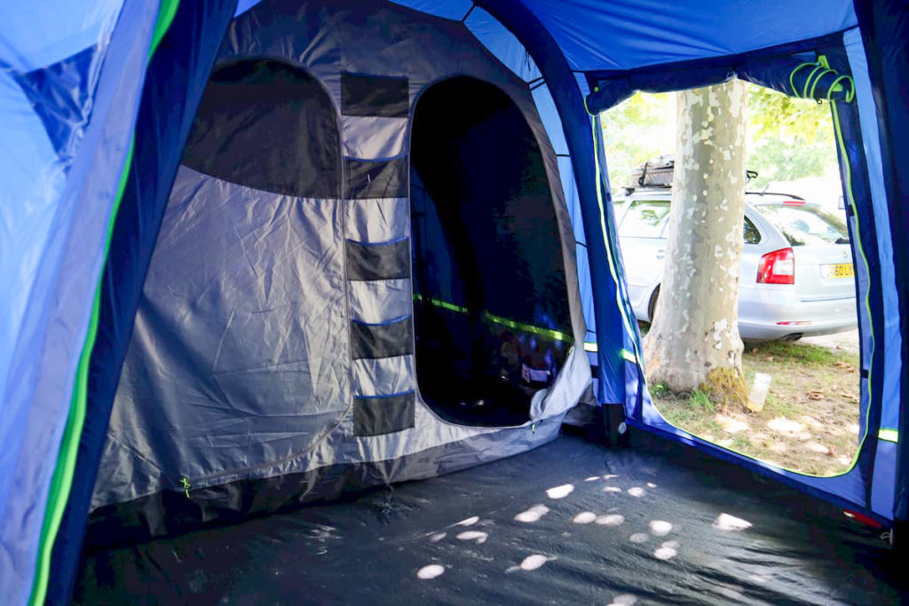 Inside the berghaus air 8 tent - bedroom compartment