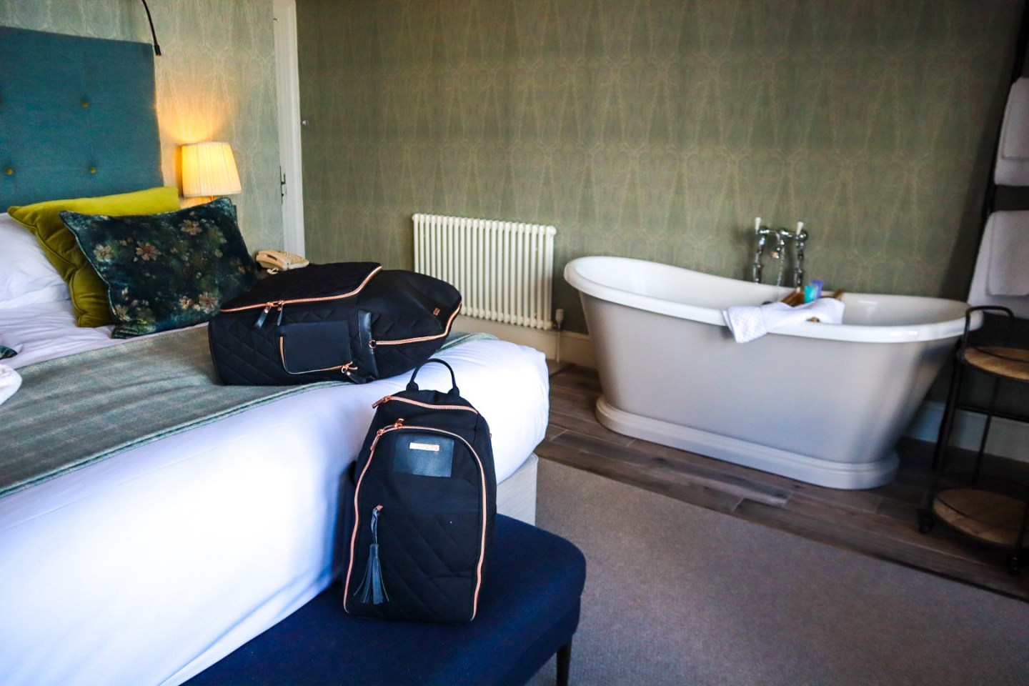 The Travel hack bags at Carbis Bay Hotel and Spa