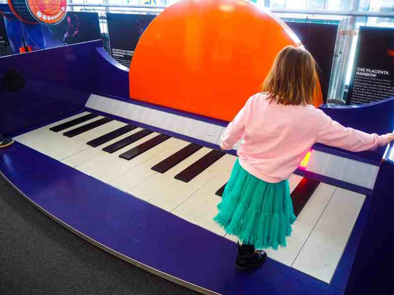 Playing the giant piano, Techniquest Cardiff