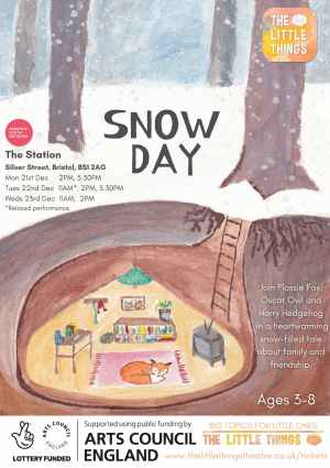 Snow Day poster - Christmas theatre bristol