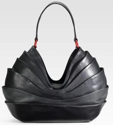 layered hobo in black