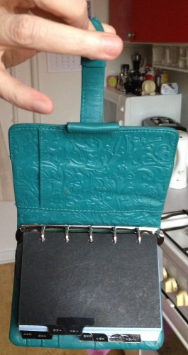The only way my Filofax will ever hang!