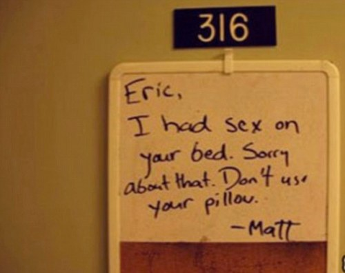 Hysterical Roommate Notes