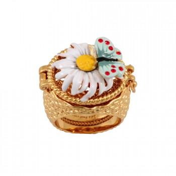 Enamelled Butterfly ring